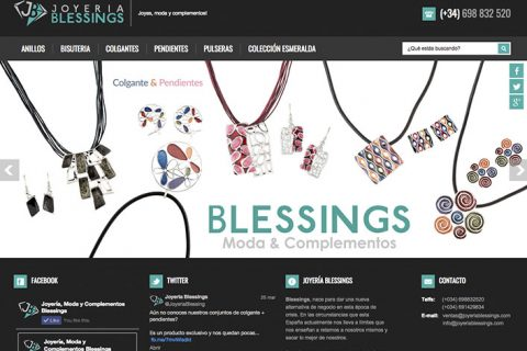 Tienda Online Joyería Blessings